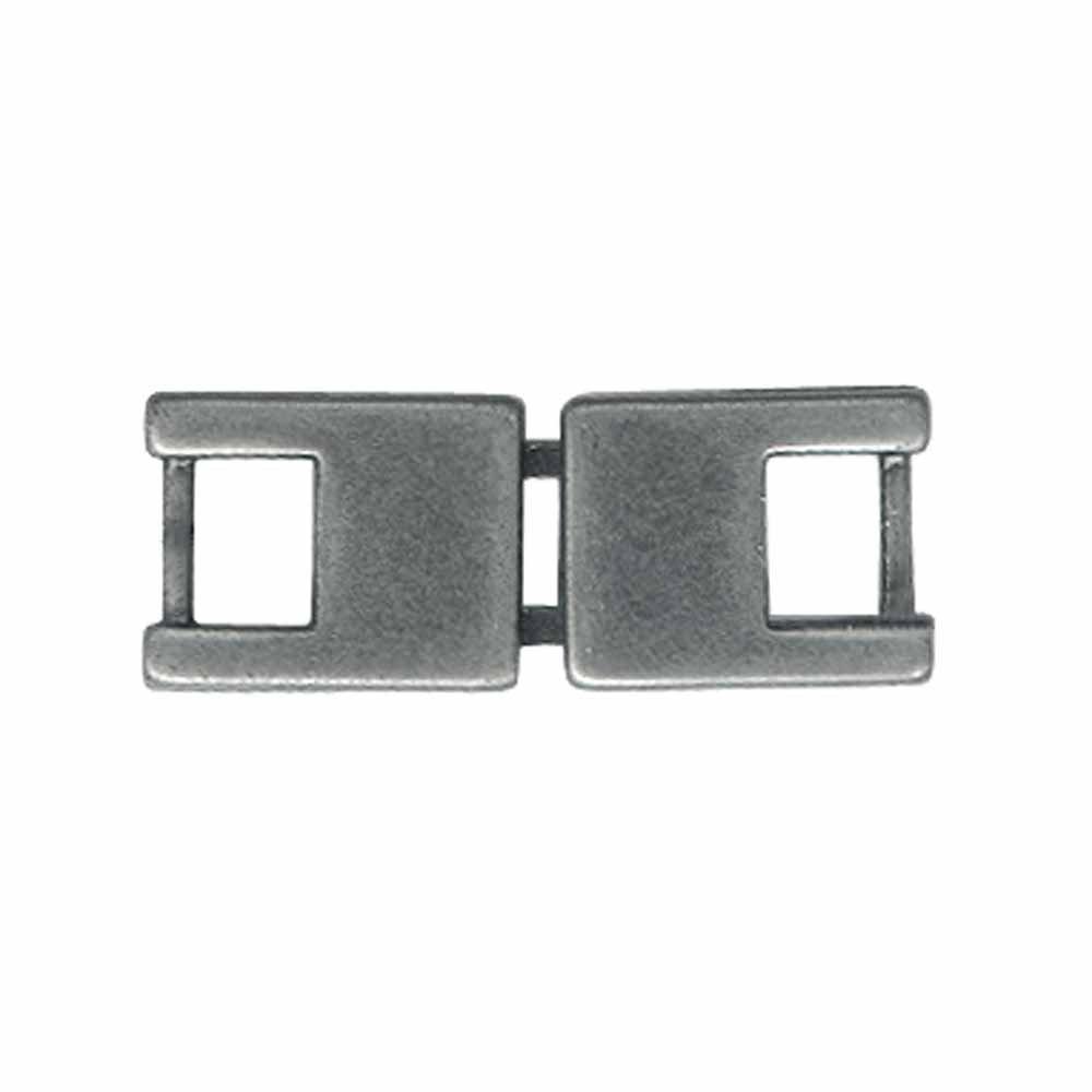 ELAN Flat Hook & Eye Clasp - 5mm (1/4) - Antique Silver