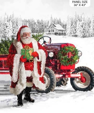 Here Comes Santa Panel - Northcott Collection