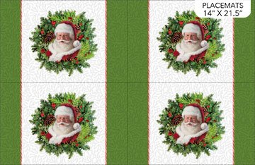 Here Comes Santa Place mats- Northcott Collection