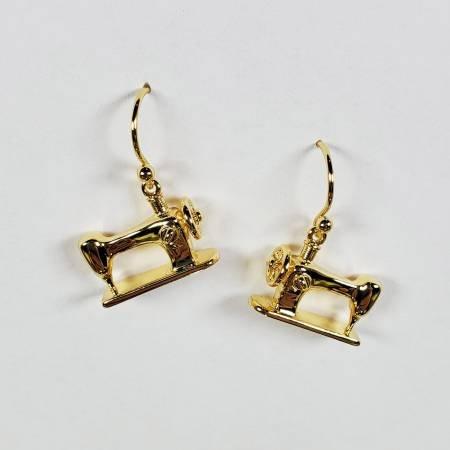 Machine Drop Earring Gold