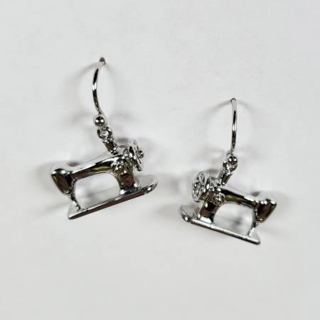 Machine Drop Earring - Silver