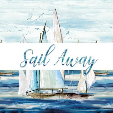 Sail Away 108 Quilt Backing - Northcott Collection