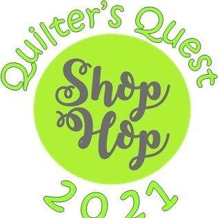 Quilter's Quest Shop Hop Block 2021 - orange block