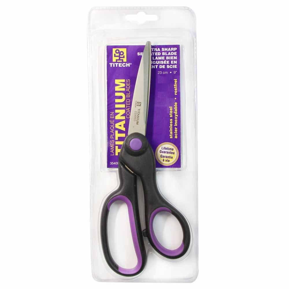 TITECH 9in Extra Sharp Serrated Blade Scissors