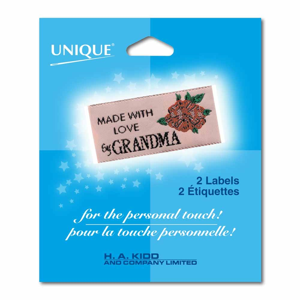 MADE WITH LOVE  by GRANDMA - 2 Labels