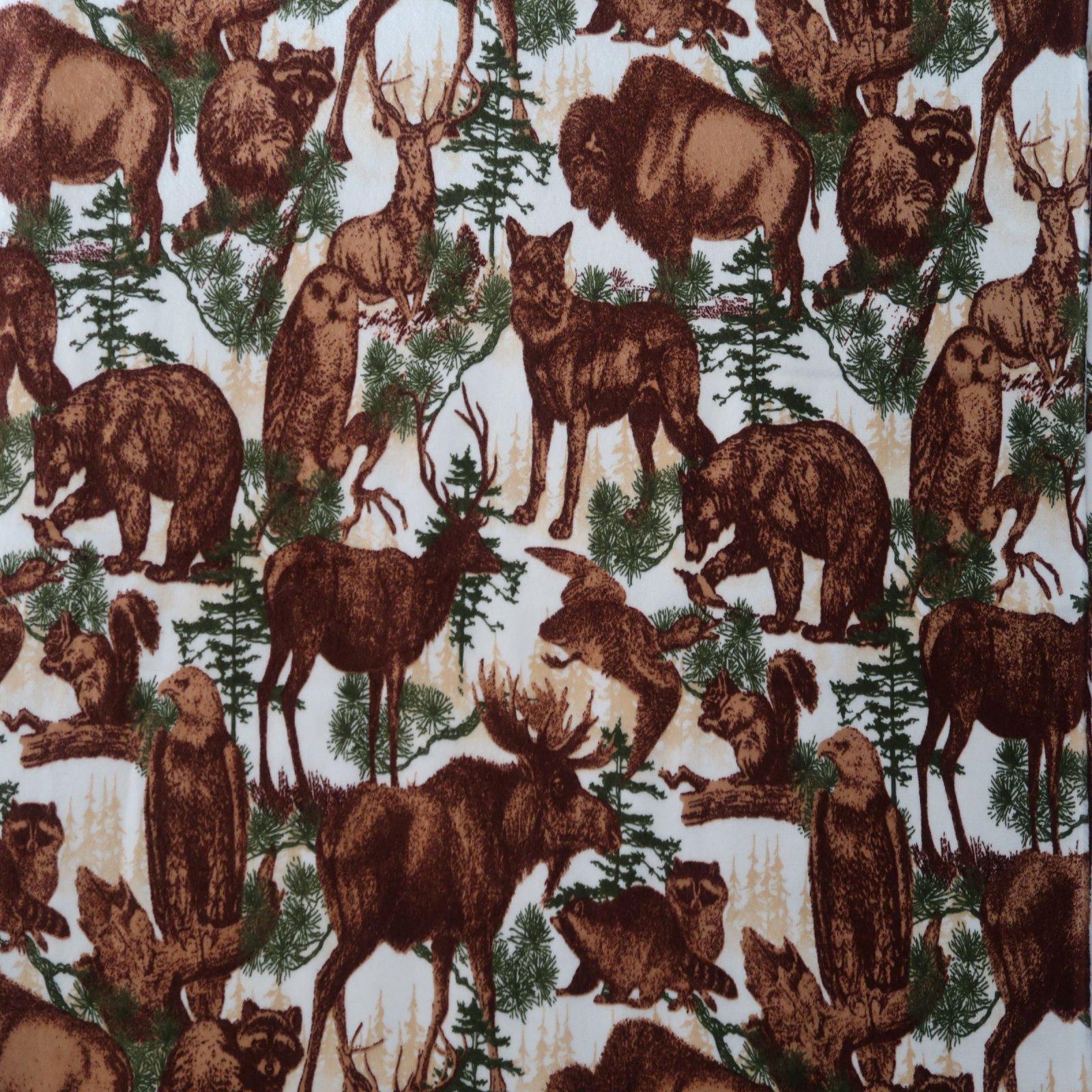 44-45 Wildlife Flannel by Robert Kaufman
