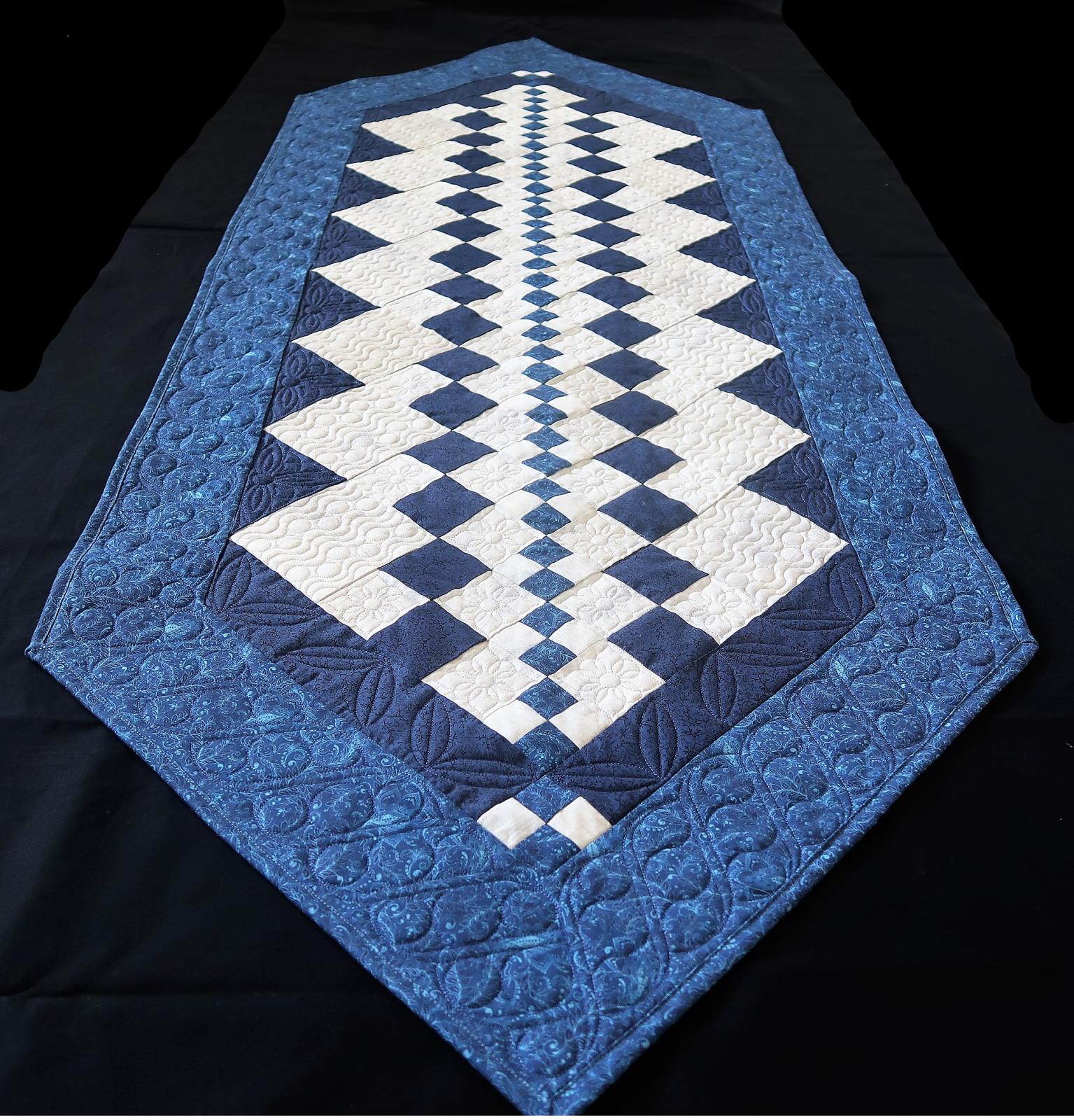 Jiffy Kit-Simple in Blue Table Runner