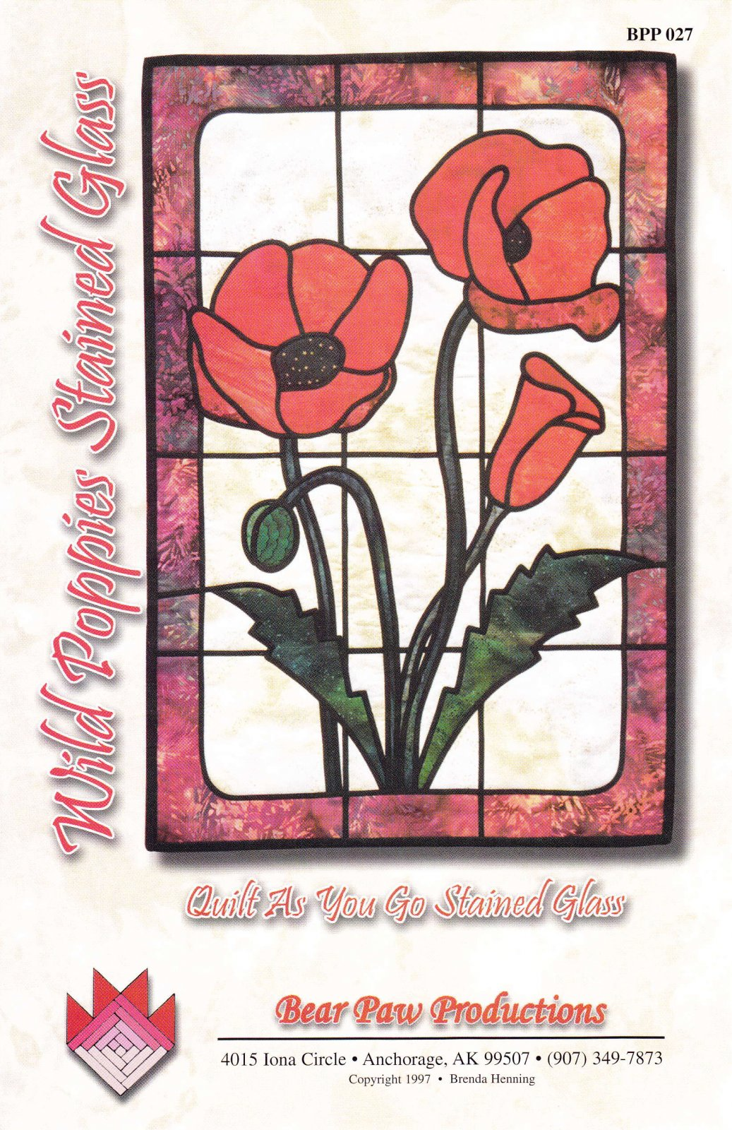 Wild Poppies Stained Glass