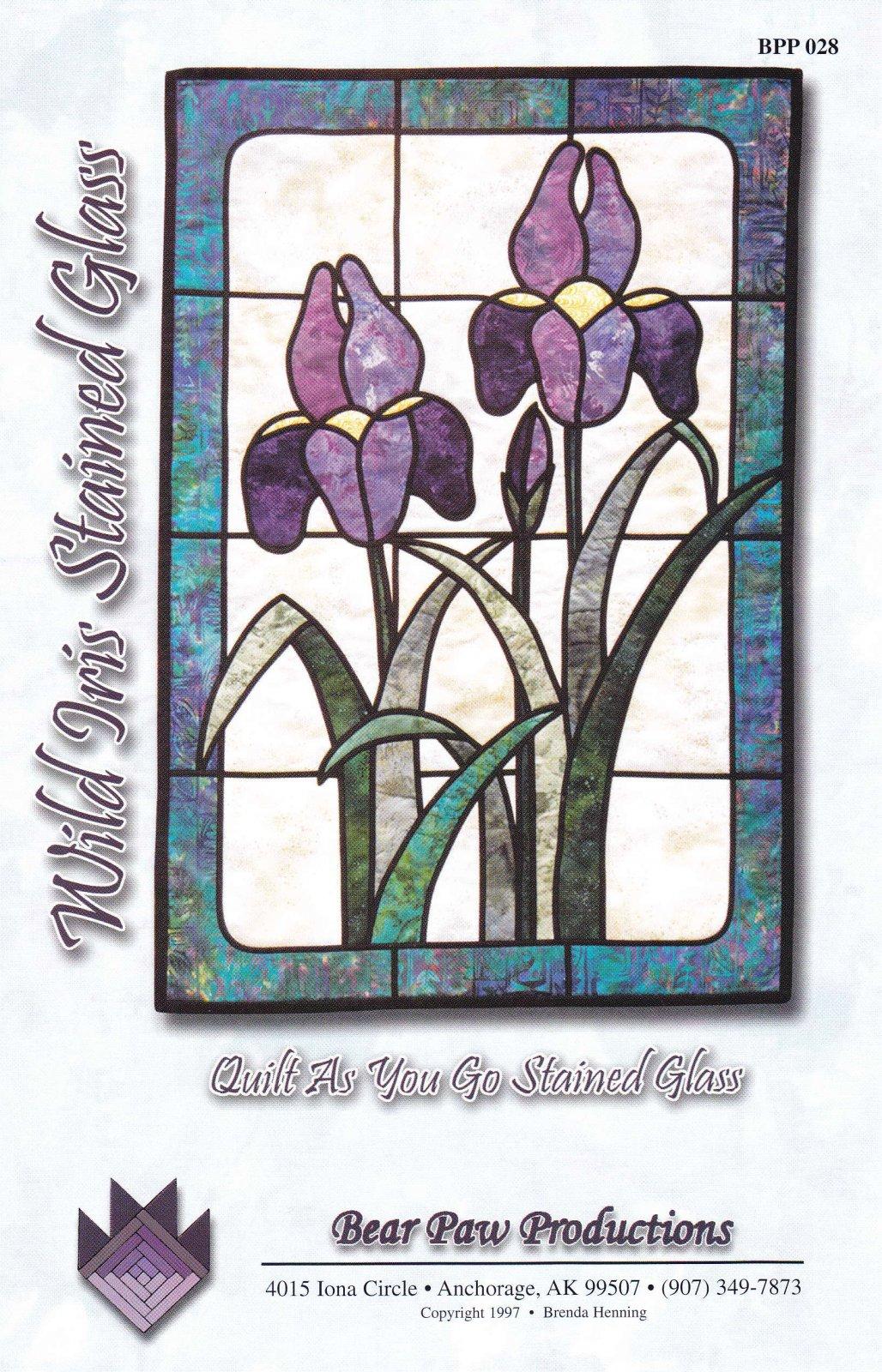 Wild Iris Stained Glass