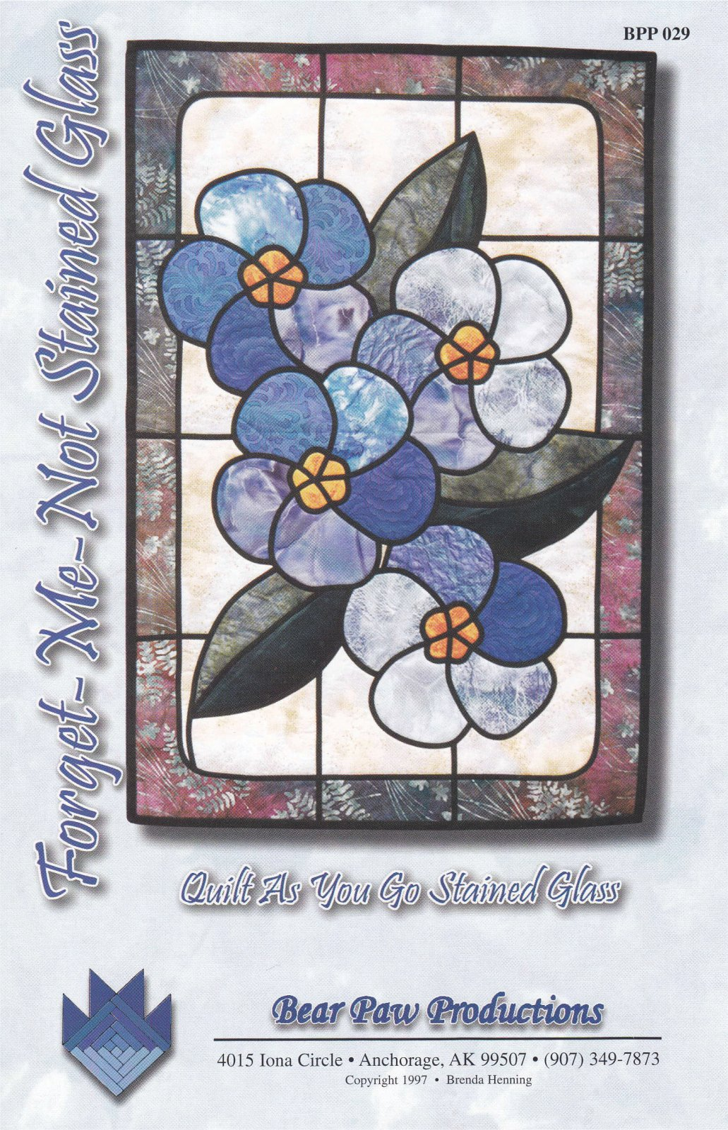 Forget Me Not Stained Glass