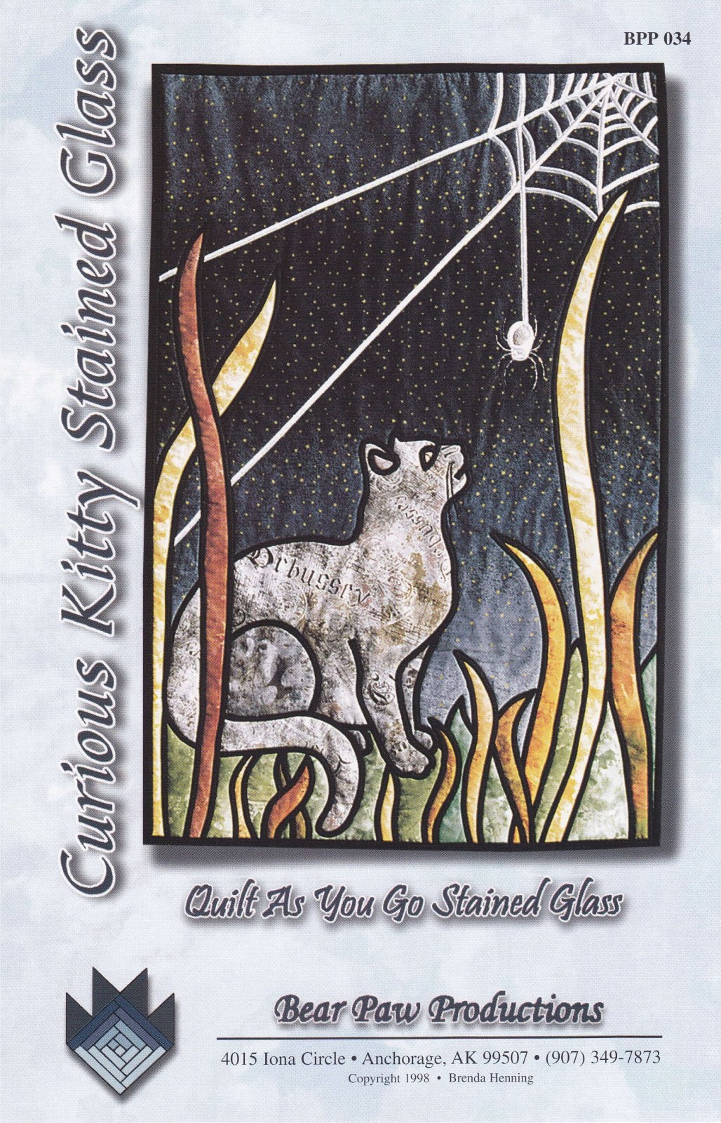 Curious Kitty Stained Glass