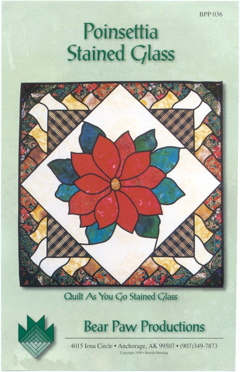 Poinsettia Stained Glass
