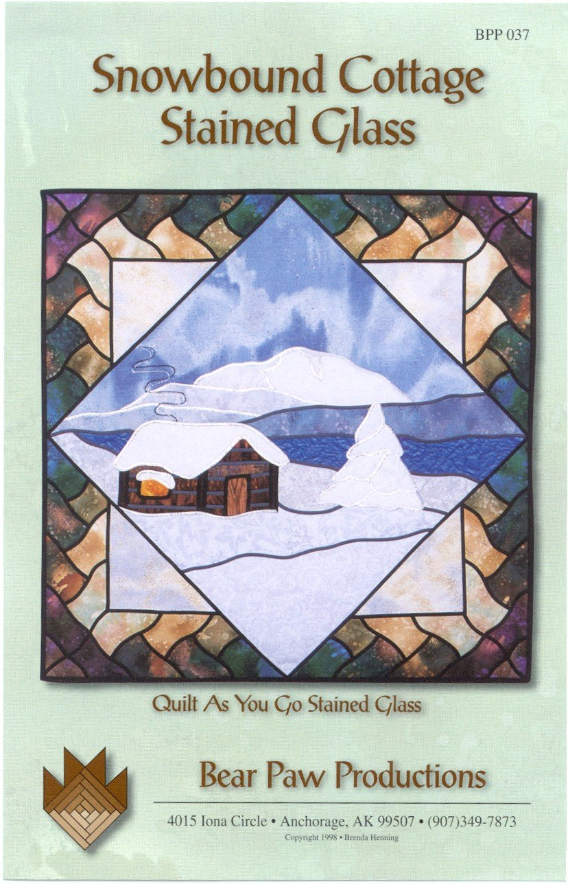 Snowbound Cottage Stained Glass