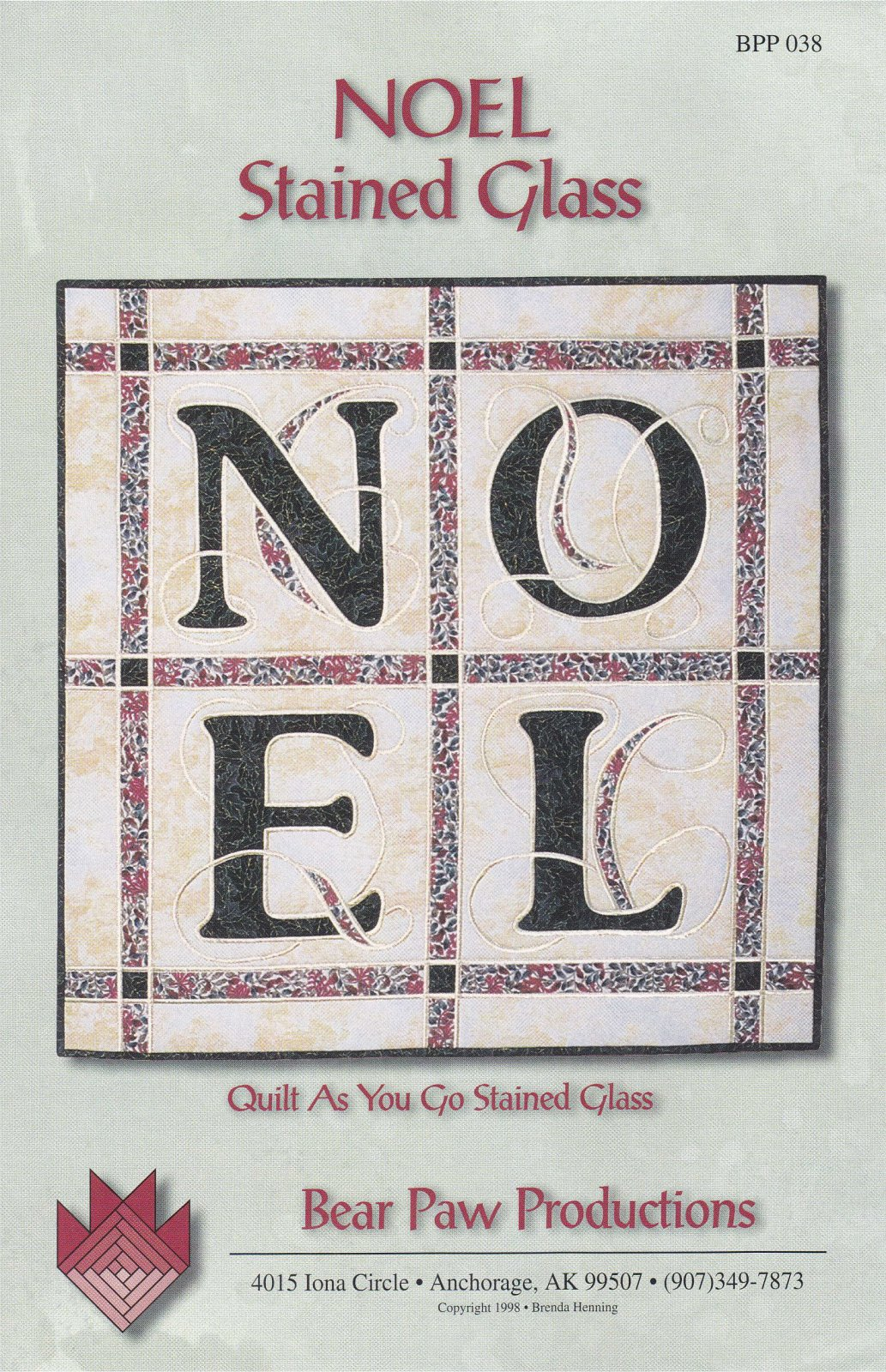 NOEL Stained Glass