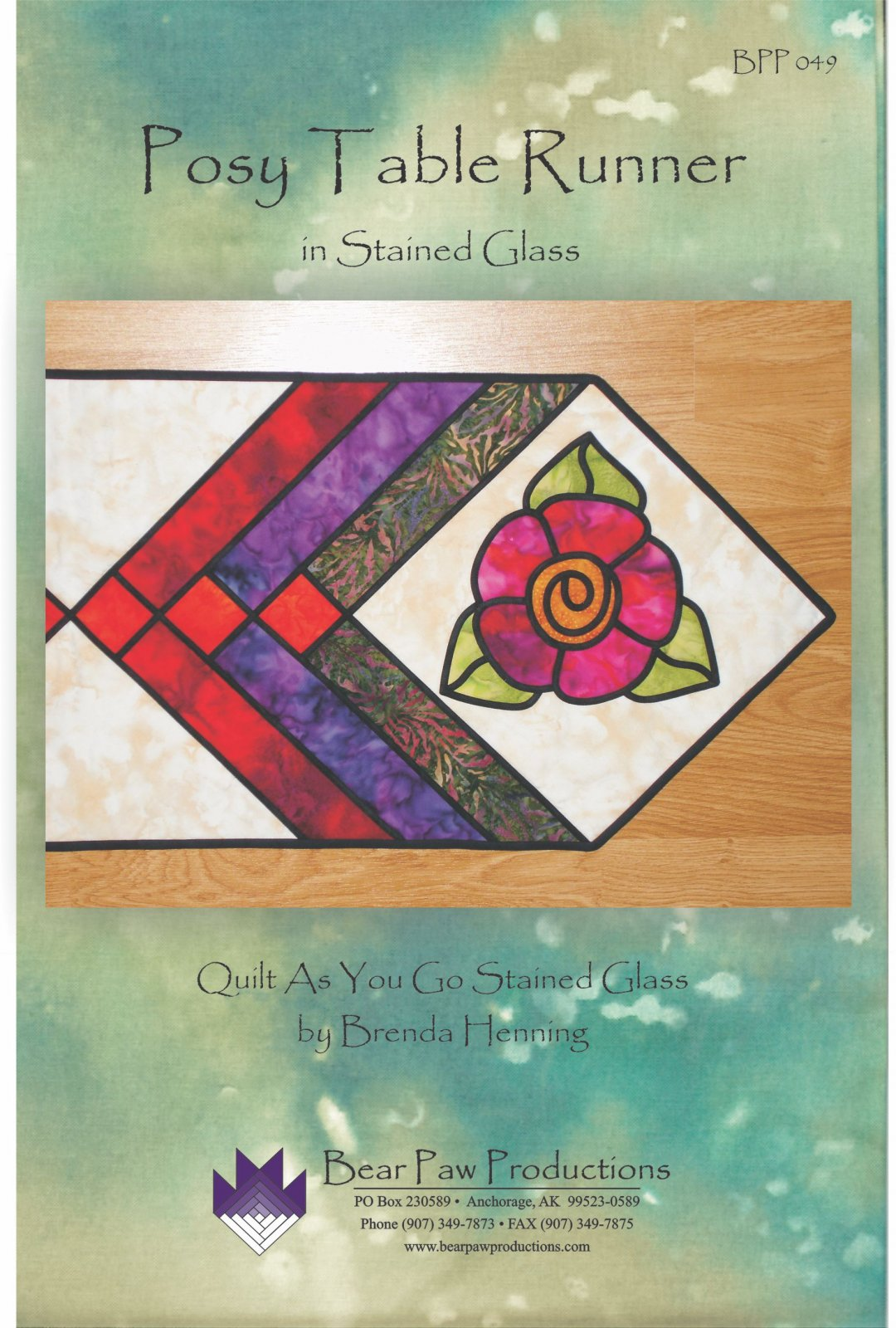 Posy Table Runner in Stained Glass