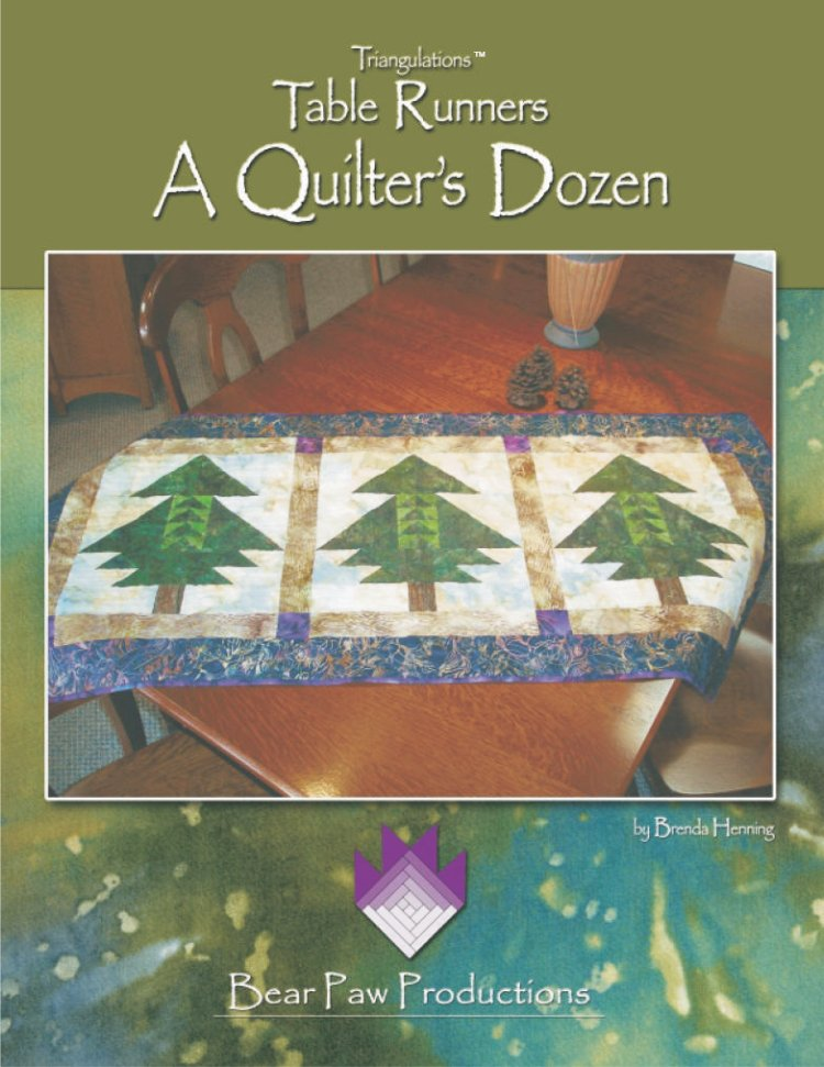 Triangulations Table Runners ~ A Quilters Dozen