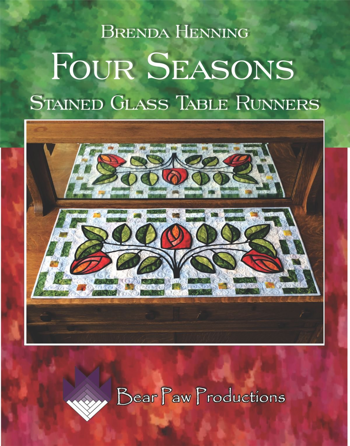 Four Seasons Stained Glass Table Runners