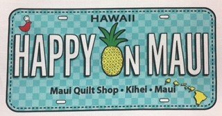 Happy on Maui License Plate