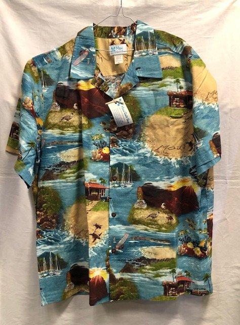 Men's Aloha Shirt Slate 2XL