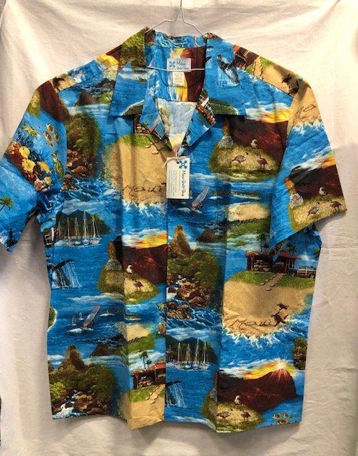 Men's Aloha Shirt - Turq. 3XL