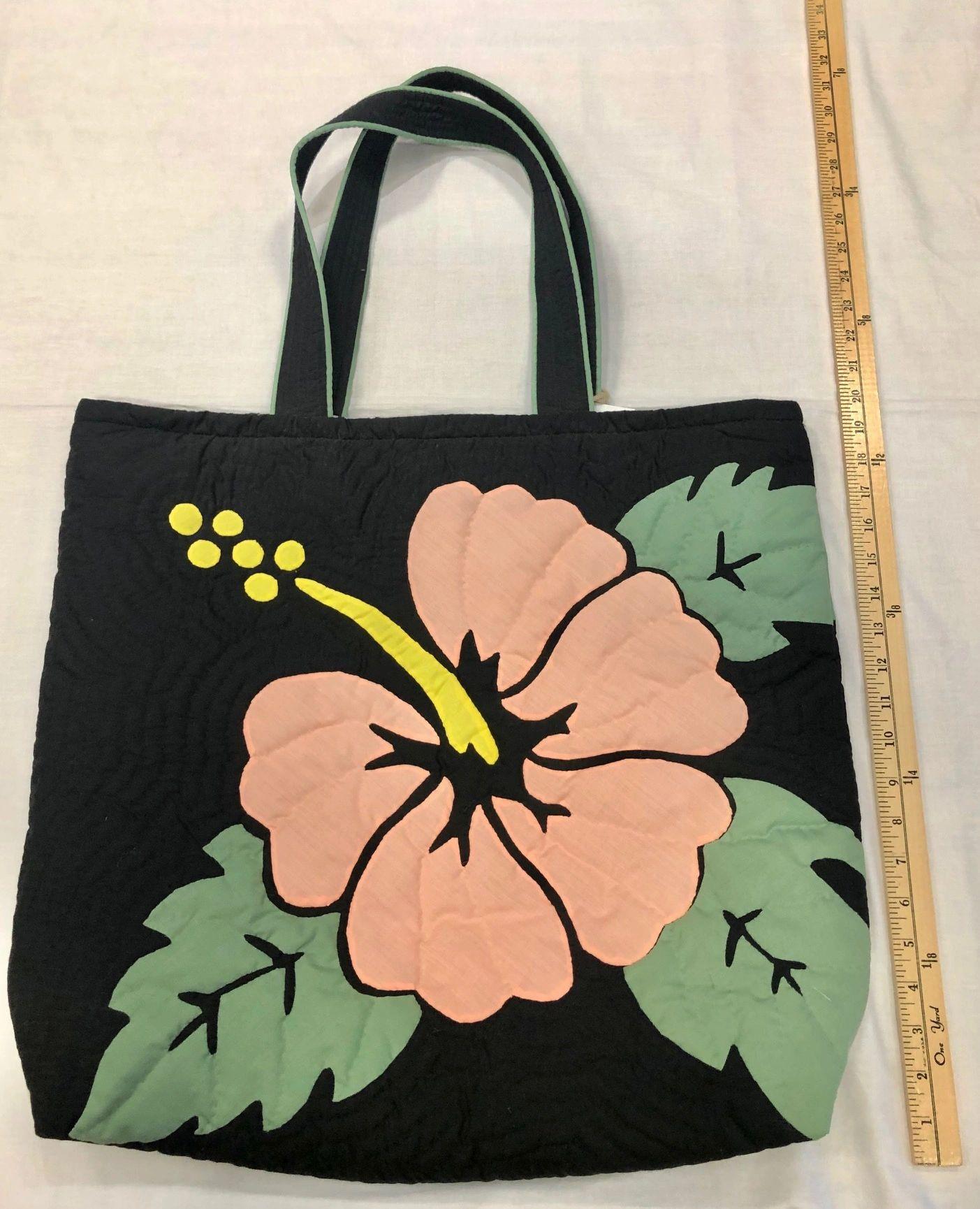 Hawaiian Quilted Bag Hibiscus 3