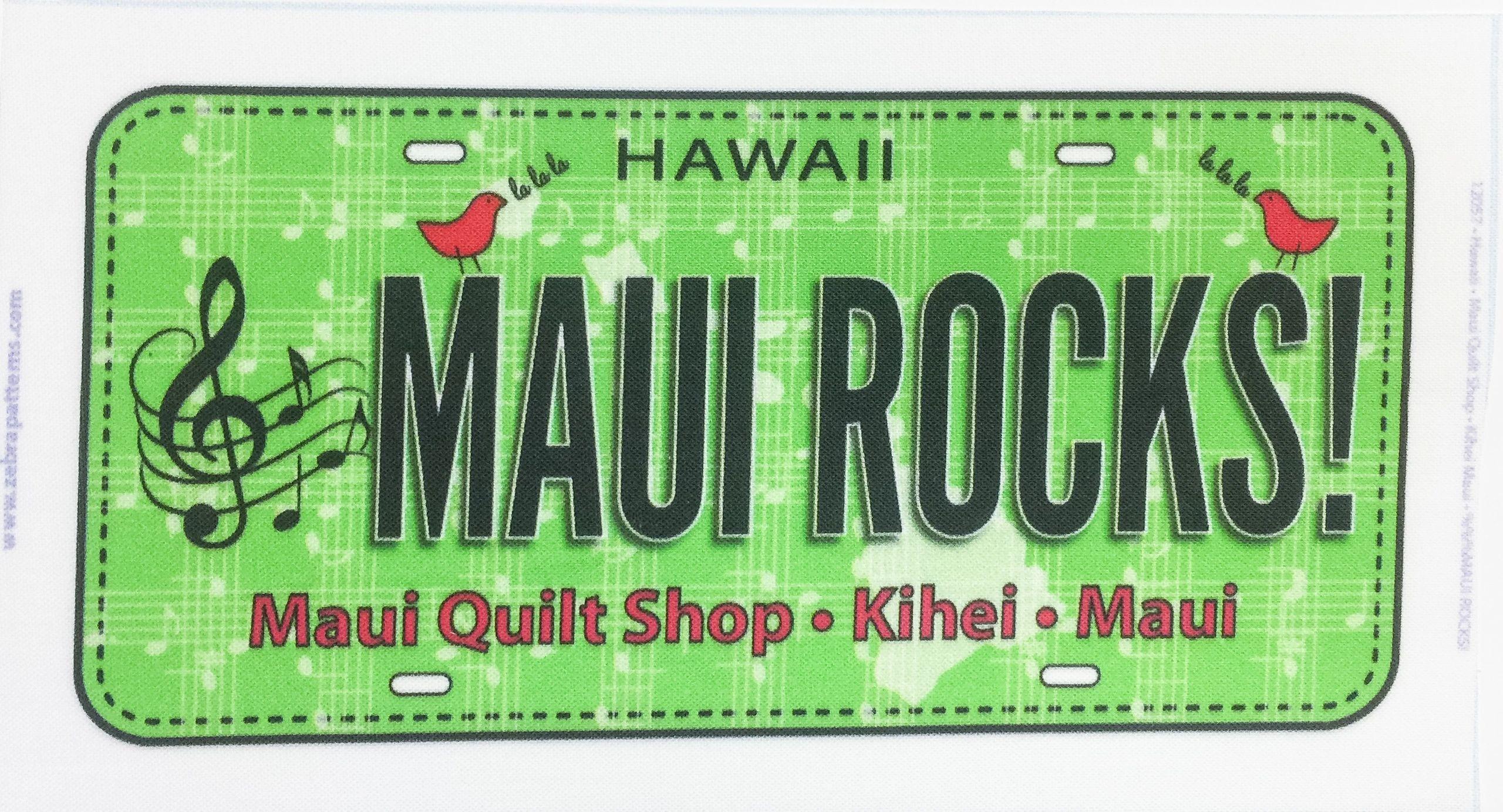 Maui Rocks License Plate
