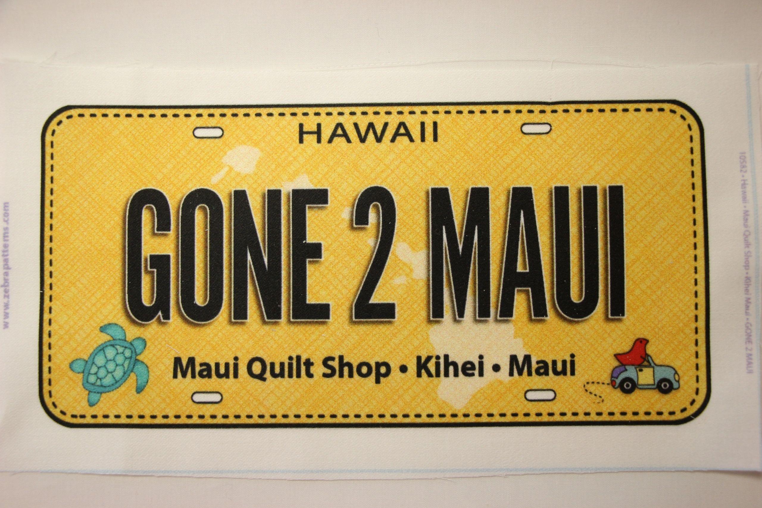 Gone 2 Maui License Plate