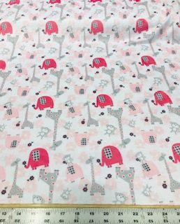 Jungle Dream Pink Minky