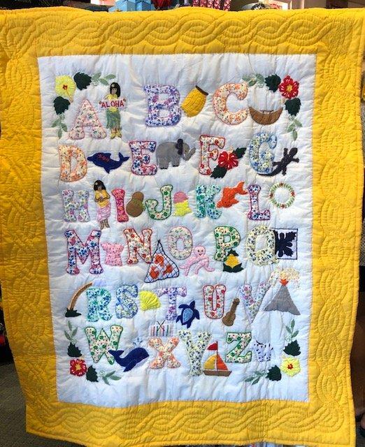 Baby Quilt ABC Yellow