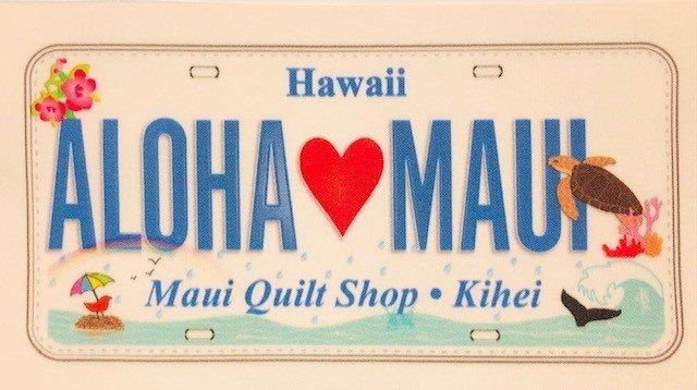 Aloha Maui  License Plate