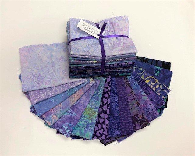 Batik Fat Quarters - Purple