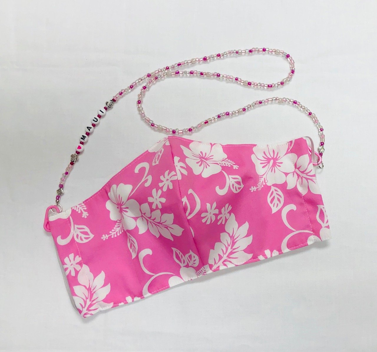 Face Mask and Holder Set Pink - 4
