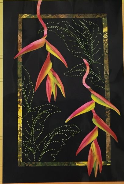 Exotics Hanging Heliconia Pattern