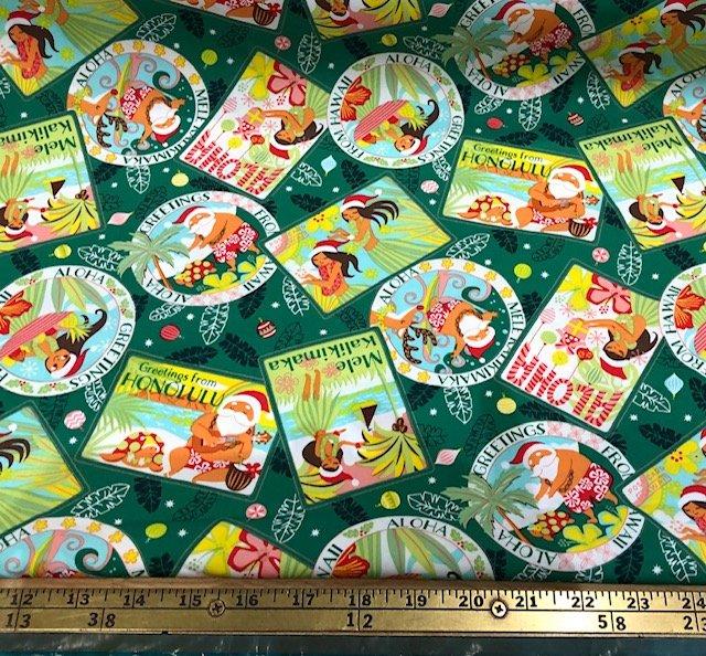 Hawaiian Christmas 4 - Green