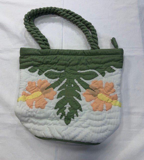 Hawaiian Quilted Bag Hibiscus 4