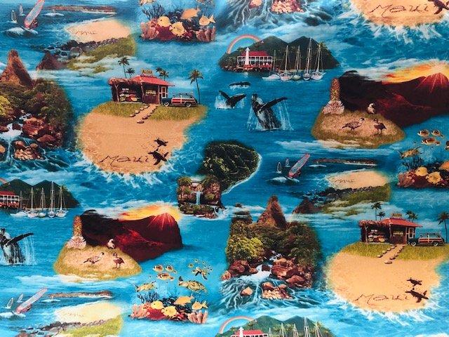 Maui fabric - Turquoise
