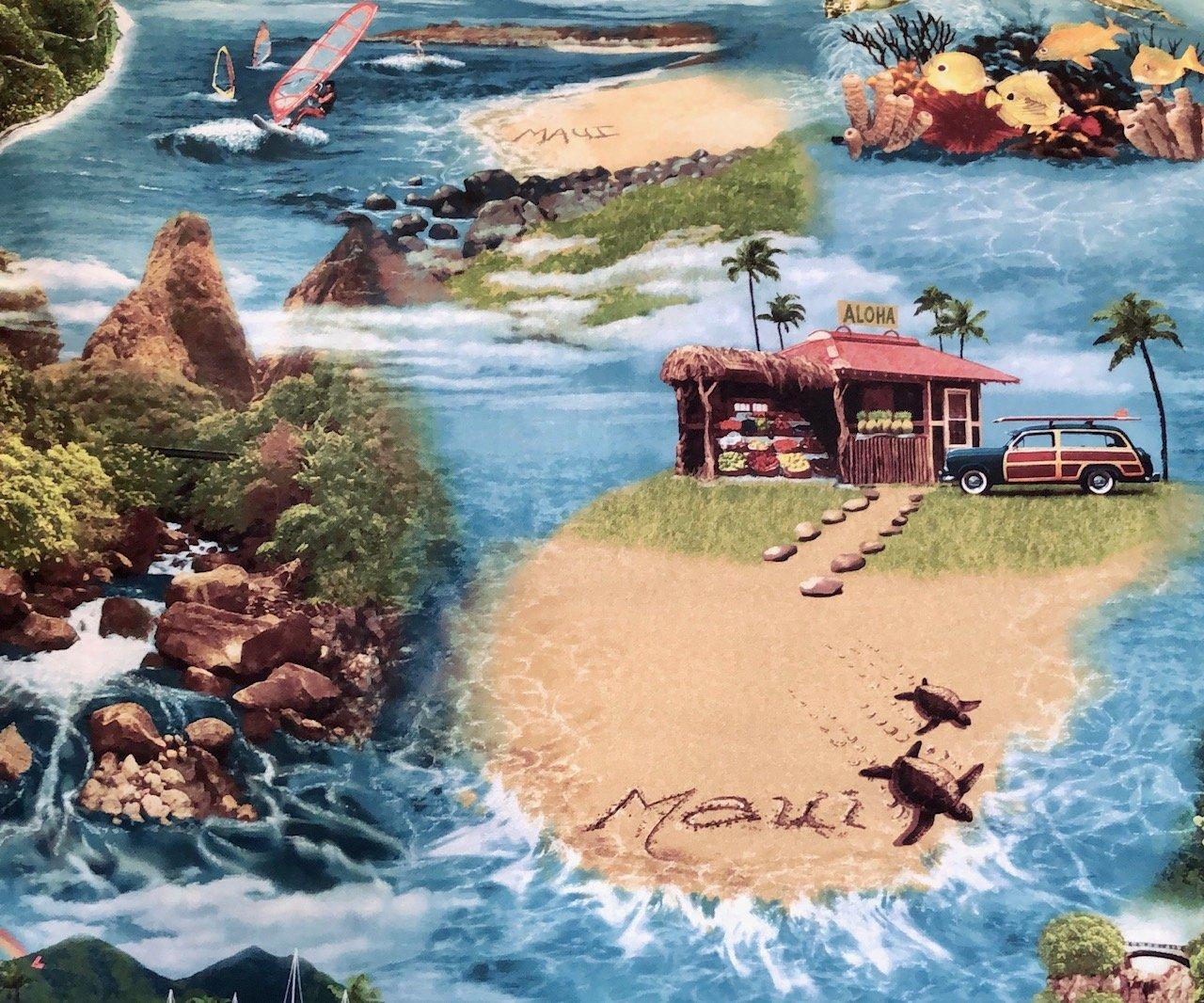 Maui  fabric - Slate