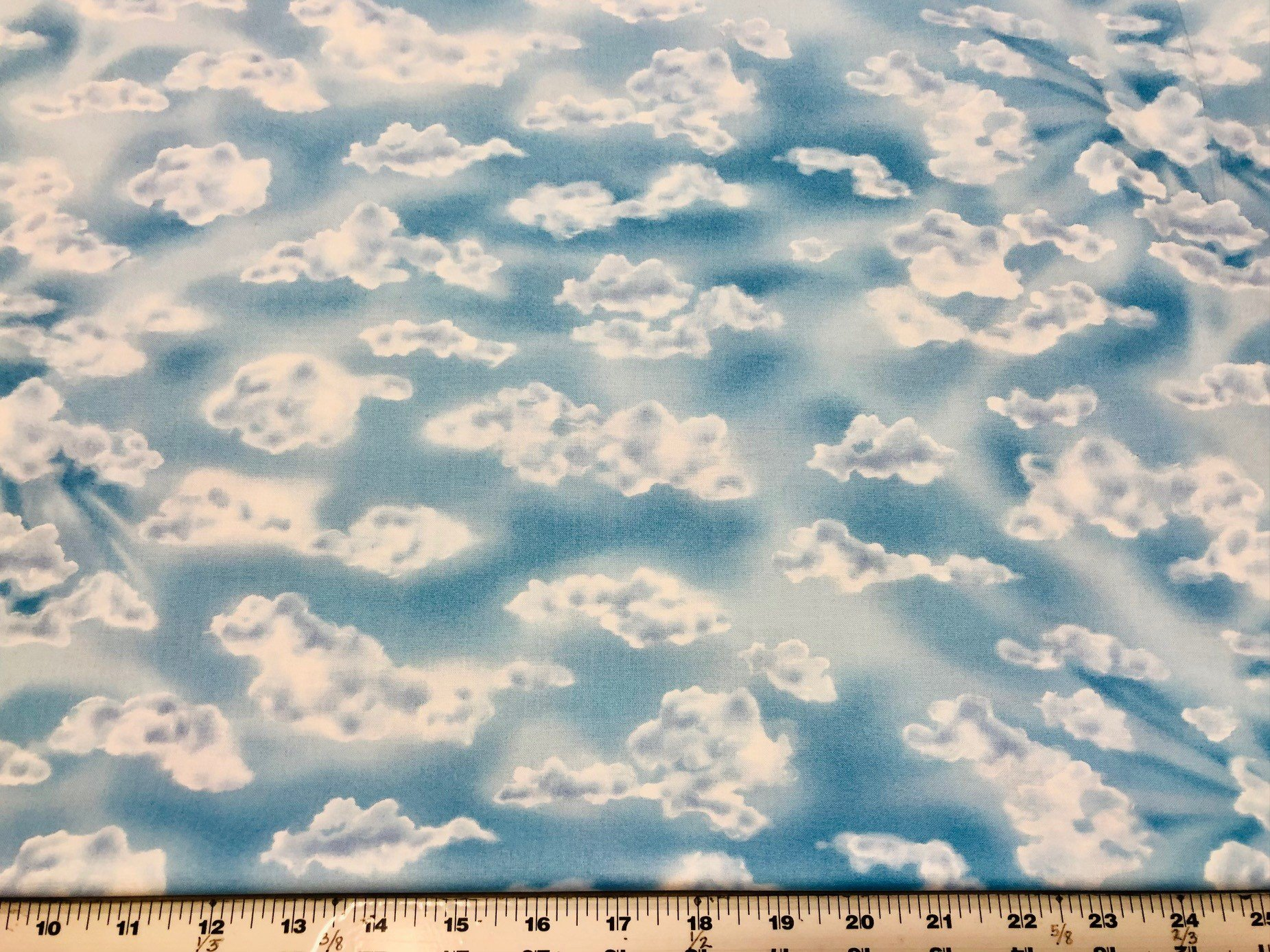 Kind of Cloudy  Fabric - Bright Blue