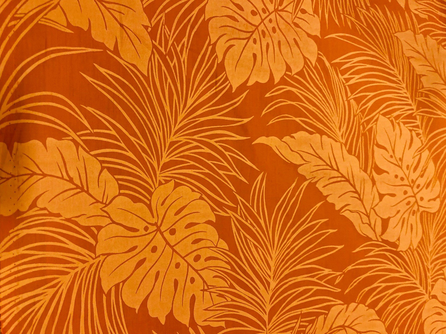 Leaves  Poly/Cotton - Orange