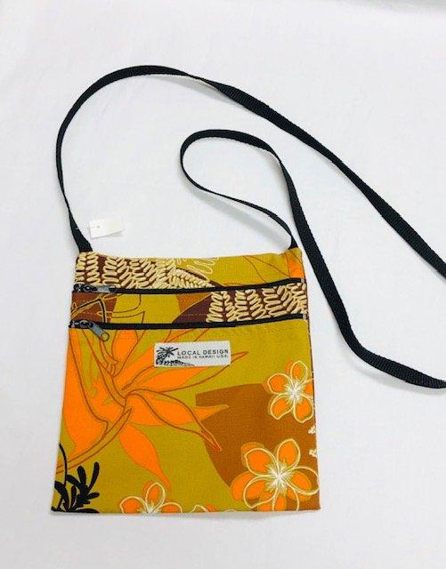 Cross Body Bag Large - LG #7 browns, orange