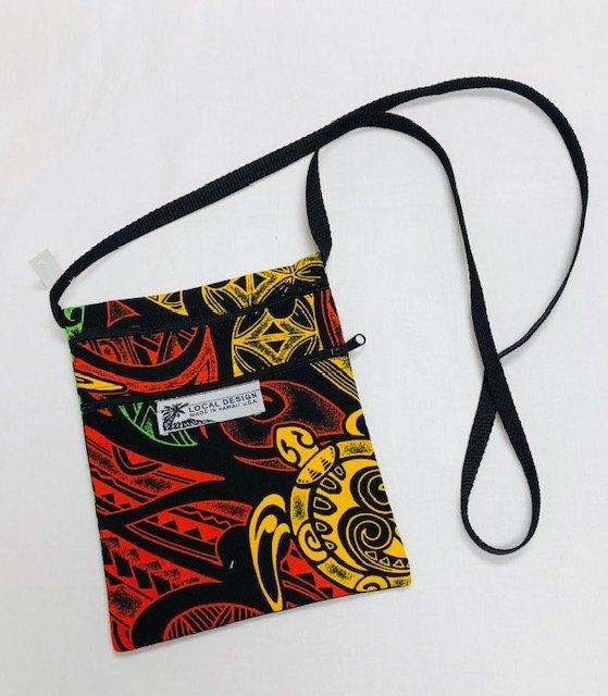 Cross Body Bag Medium - MED #10 red, gold, green