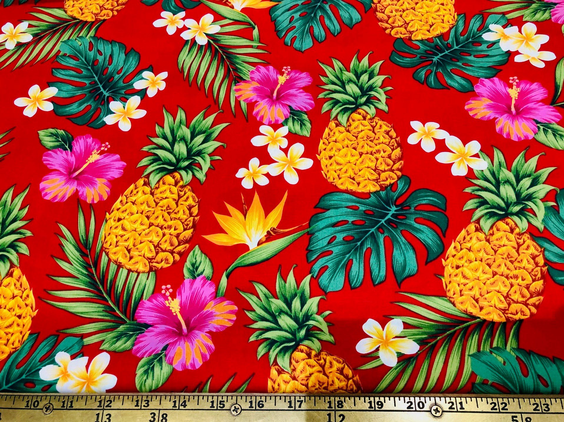 Pineapples Tropical Flora Red
