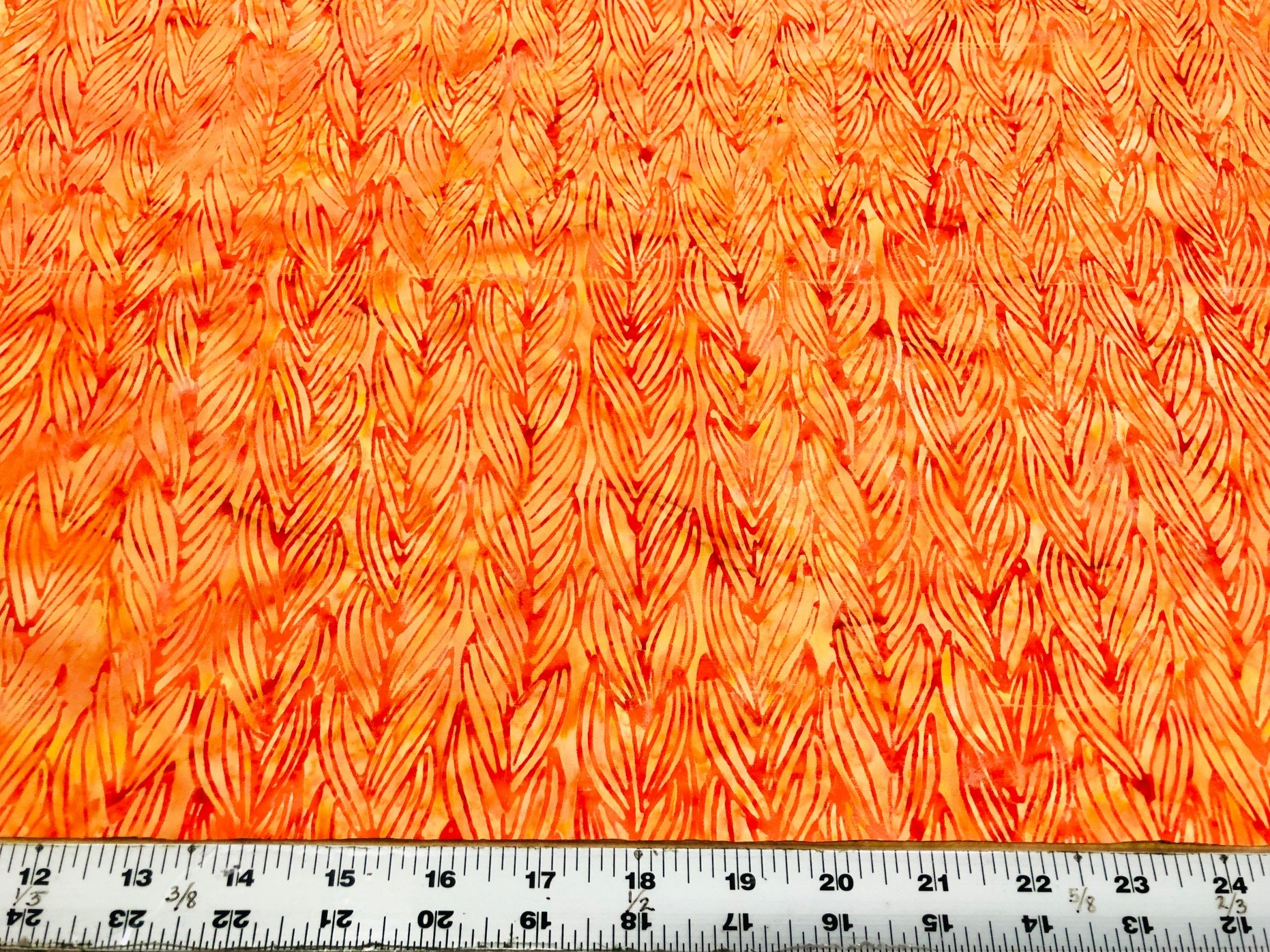 Rainbow Webbing  Batik - Orange
