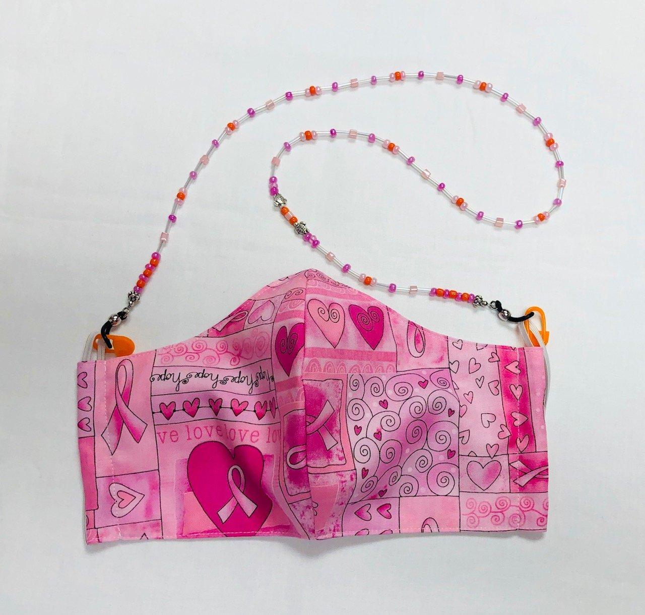 Face Mask and Holder Set Pink - 2