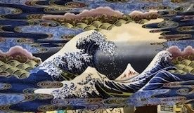 The Wave panel - Blue 50