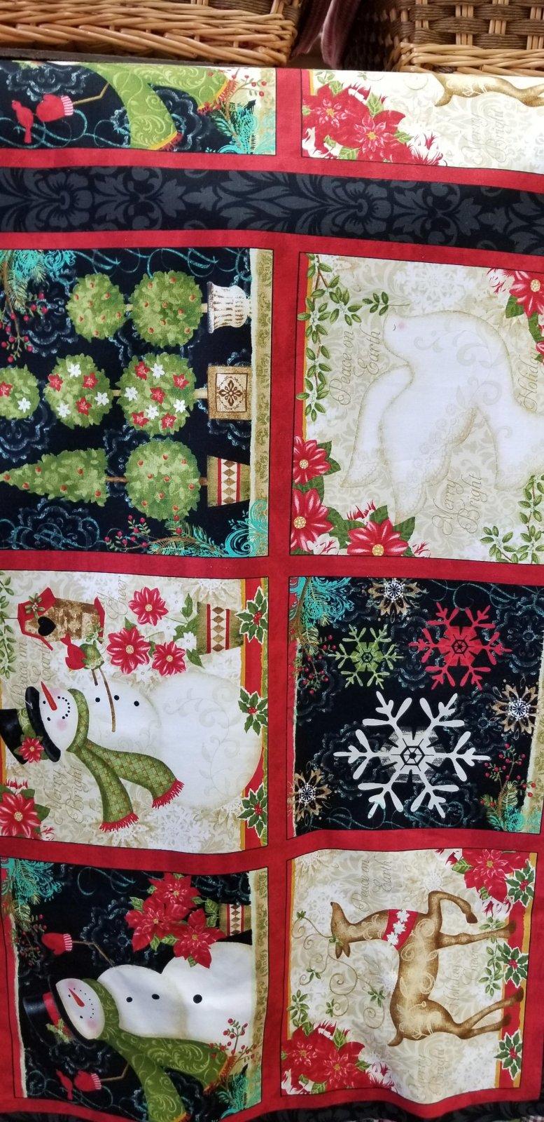 703081157242 Christmas Winter bliss panel