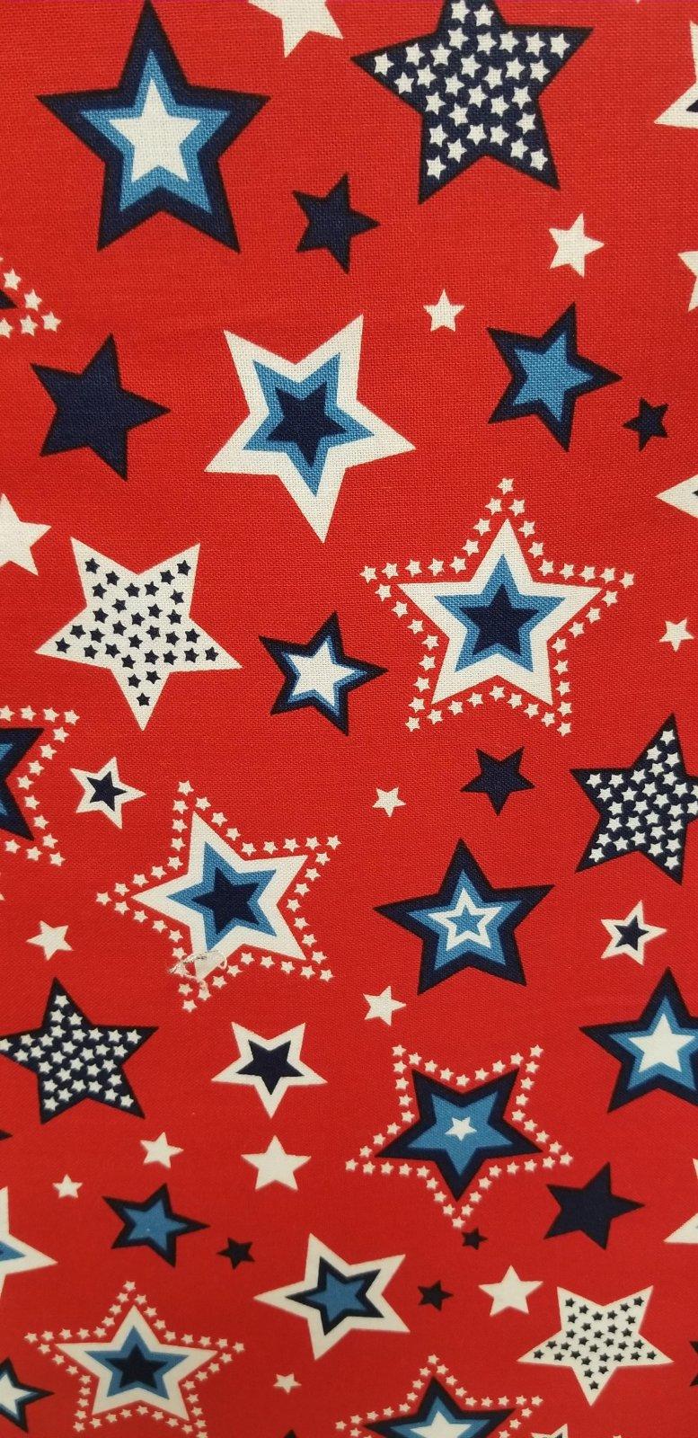 703081204366 Patriotic stars red