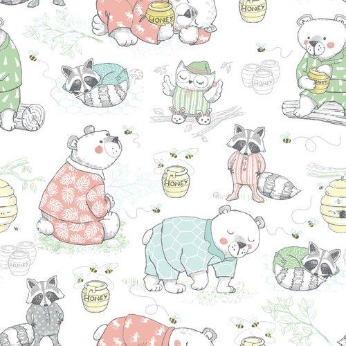 Kids Flannel - Sleepy Animals