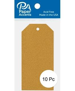 Craft Tags 1.625x3.25 10pc Glitter Gold