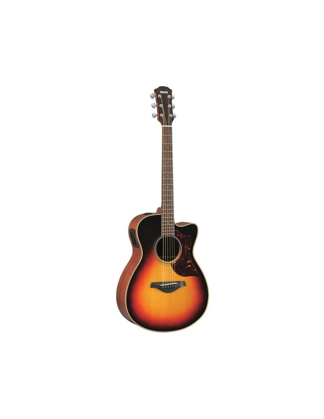 Yamaha A Series Small Body Cutaway Acoustic-Electric Guitar - Solid Sitka Spruce Top, Mahogany B/S, SRT System72 Piezo/Preamp, Tobacco Brown Sunburst